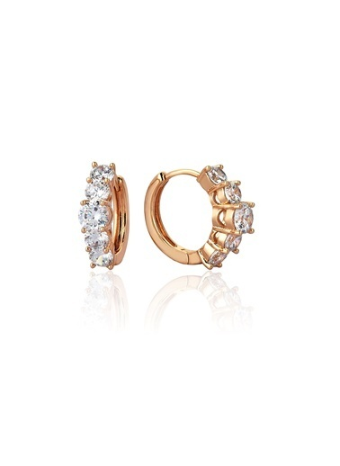 Tophills Diamond Co. 1,60 Ct Pırlanta Efekt Altın Valentina Beştaş Sarı Küpe Renkli